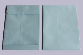 ハート パステルカラー封筒 角2 保存袋(マチつき) パステル ブルー 150g/m2g/m2 紐なし 300枚 bp1275