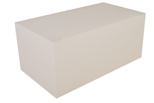 Southern Champion Tray 2757 Paperboard White Dinner Carry-Out Box, Tuck Top, 9' Length x 5' Width x 4' Height (Case of 250)