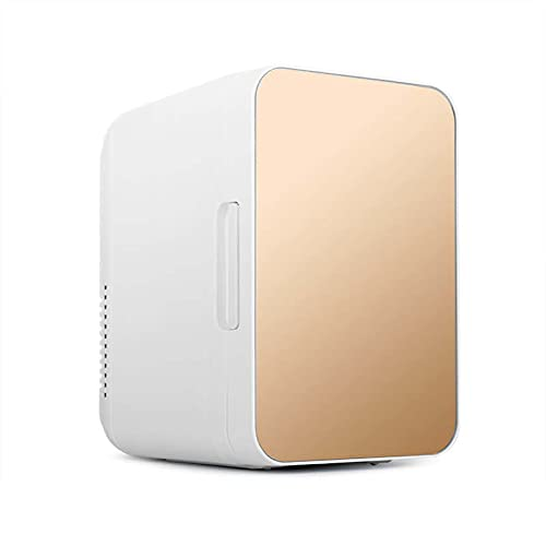 JFIOSD Mini Neveras 8L Refrigerador De Coche Pequeño Congelador para Refrigerador De Camping 12V / 220V para Bebidas, Frutas Y Cosméticos, Medicamentos Congelador,Oro