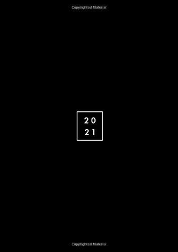 2021: Agenda 2021 giornaliera 2 pagine per giorno 21x29,7 cm A4, italiano, colore: nero