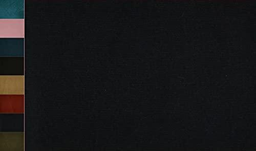 Stoffbook Tela elástica de algodón de cord, E318 (azul oscuro).