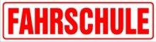 INDIGOS UG - Magnetschild Fahrschule 45 x 12 cm - Magnetfolie für Auto/LKW/Truck/Baustelle/Firma
