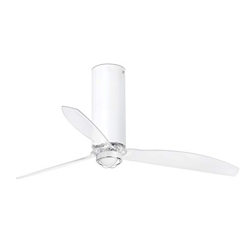 Faro Barcelona 32034-9- TUBE FAN LED Ventilador de techo blanco mate/transparente con motor DC