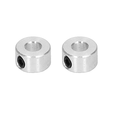 10Pcs Shaft Collars, Mechanical Shafting, 6mm Aluminum Alloy High Strength Wearproof Stable Setscrew Shaft Collar for Intelligent Robots