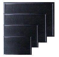 HELGUEFER - Felpudo goma standar picos 80 x 60 cm
