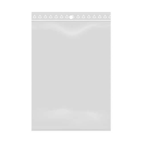 Lotto di 100 sacchetti trasparenti con chiusura a zip - Plastica adatta agli alimenti (10 x 15 cm)