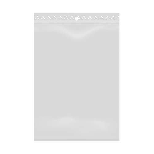 100 bolsas con cierre de cremallera transparente y plástico apto para alimentos 10x15 cm