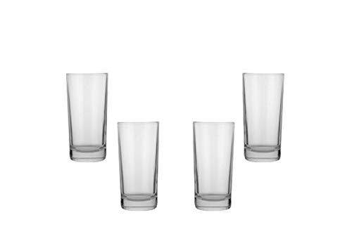 Prestige Highball Juice Glasses 11 Oz, Modern Clear Glassware Set of (4)