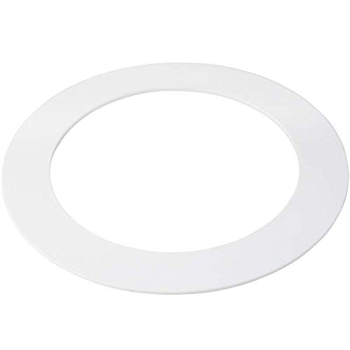 5 Pack White Plastic Trim Ring for 8' Inch Recessed Can Down Light Oversized Lighting Fixture