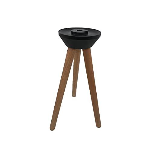 Soporte de trípode de madera y plástico para altavoz de audio de...