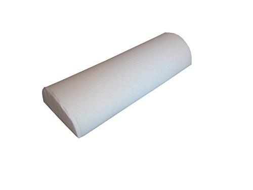 Halbrolle Knierolle Nackenrolle mit Kunstlederbezug 50 x 25 x 12,5 cm, weiß