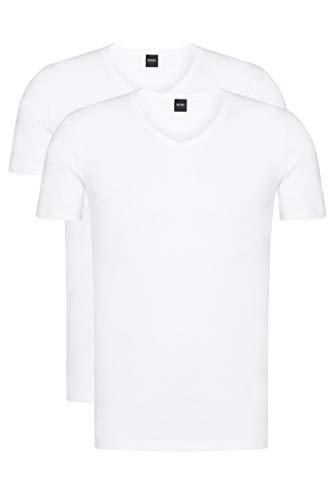BOSS Herren T-Shirt VN 2P CO/EL Zweier-Pack T-Shirts