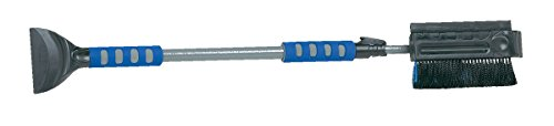 SubZero 16619 51  Ice Crusher Dual Head Pivoting Snowbroom and Squeegee with Integrated Ice Scraper