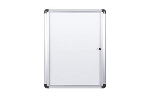Bi-Office Boletín Enclore Extra, Superficie magnética en acero lacado, Tablón de anuncios con puerta con bisagras para interiores en aluminio, 532 x 686 mm - 4xA4 🔥