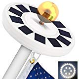 best solar flagpole lights TOTOBAY