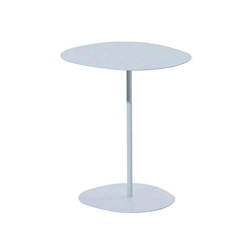 Kleiner Couchtisch Kreativer Beistelltisch Wohnzimmer Eisen Runde Couchtisch Schwarzer Beistelltisch Kleine Tabelle Weißer Nachttisch Aufbewahrung & Organisation ( Color : Weiß , Size : 46*47 cm )