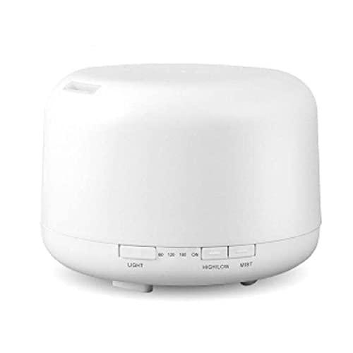 XISESAN Humidificador con esencial aromaterapia ultrasónica Aceites difusor de aire purificar 500 ml 7 LED humidificador