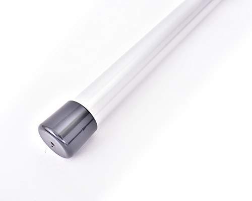 ものほし竿 2m 高剛性 組立て式 1本竿 洗濯竿 物干しざお 直径3.2センチ 本体カラー:シルバー (キャップカラー:パールブラック)