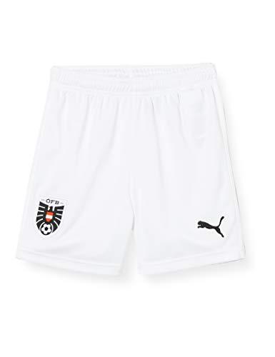 PUMA Jungen ÖFB Home Shorts Replica Jr White Red Black, 176