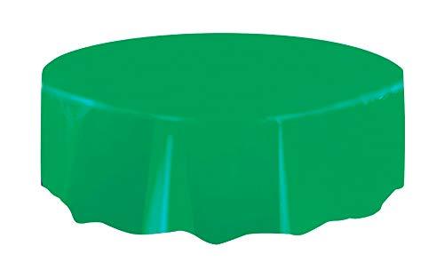 Mantel de Plástico Redondo - 2,13 m - Verde Esmeralda