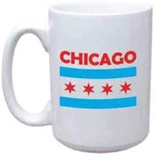 Chicago Flag Coffee Mug, Jumbo Size Chicago Mug, Chicago Flag Product