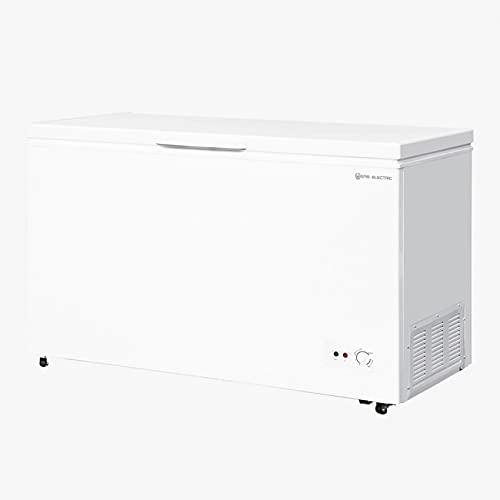 EAS ELECTRIC SMART TECHNOLOGY | EMCF416 | Arcón Congelador 402 litros | Termostato regulable | Función botellero | Cesto desmontable | Fácil descongelación | Ruedas fácil transporte