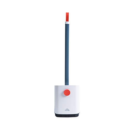 Portaescobillas de Inodoro El cepillo de baño se puede colgar en la pared o colocarse en el suelo, la herramienta de limpieza del hogar un cepillo de inodoro de mango largo (sin punzonado) Escobillero
