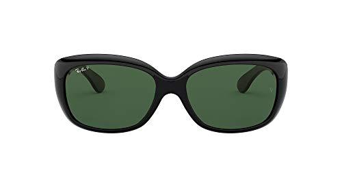 Ray Ban Damensonnenbrille Jackie Ohh RB4101 601 Größe 58, Black Crystal Green