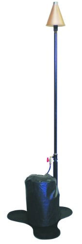 propane tiki torches Burnaby Manufacturing Single-Head Propane Tiki Torch Stand, Copper Color