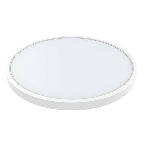 Plafón Led KRAMFOR R 36W LEDBOX, para instalación en superficie, Blanco neutro 4000K. Plafón LED Circular para Techos. Plafón para Baño Dormitorio Cocina Sala de Estar Comedor Balcón Pasillo