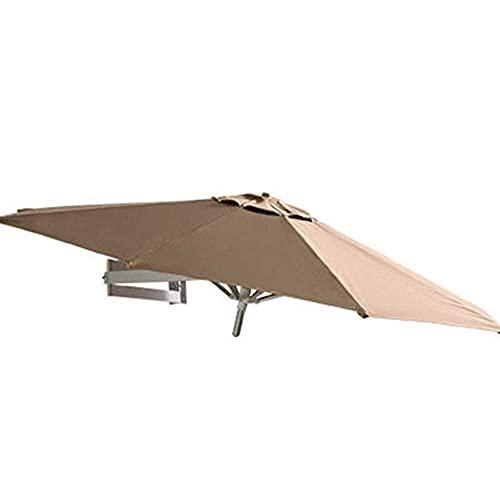 H-BEI Sombrilla para el Sol Sombrilla para jardín Sombrilla para Patio al Aire Libre, para Montaje en Pared, para Pared, balcón, Puerta, Patio, sombrilla con inclinación y Poste de Aluminio, 7 pie