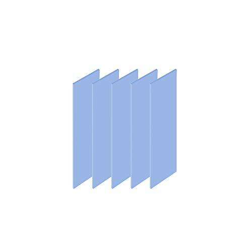 ADWITS Paquete de 5 20x67x1,0mm Almohadillas de Silicona termoconductoras con 6.0 W/MK de conductividad térmica, Suave, Seguro, fácil de aplicar para SSD CPU GPU LED IC Chipset Cooling -Azul