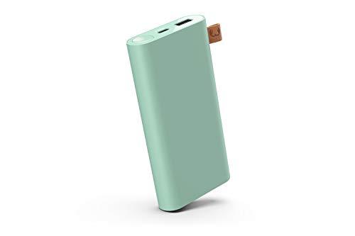 Fresh 'n Rebel Powerbank 12000 mAh USB-C | Tragbares Ladegerät/Externer Akku - 2-ports USB-C & USB für iPhone, iPad,Huawei,Samsung, Nexus, HTC und mehr – Misty Mint