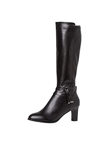 Tamaris Damen 1-1-25579-25 Kniehohe Stiefel, schwarz, 37 EU