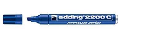 Edding 2200Permanentmarker Keilspitze Tinte indélibile ohne Lösungsmittel 10Stück blau