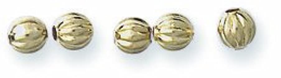 Shipwreck Beads Metal Brass Fluted Round Bead, 3mm, Metallic, Gold, 120-Piece
