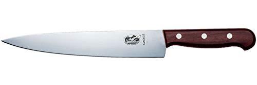Victorinox Rosewood Küchenmesser-/Tranchiermesser, mit Holzgriff, Gerade Klinge, 22cm Klingenlänge, Swiss Made