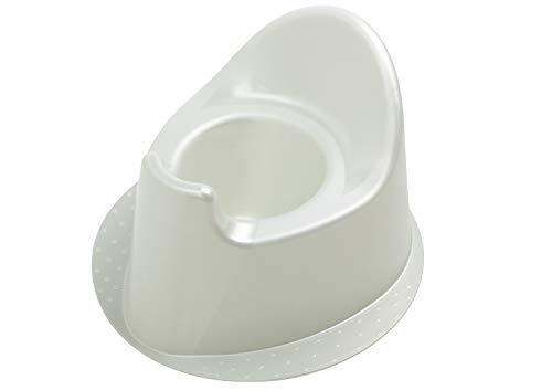 Rotho Babydesign TOP Petit Pot à Base Stable, À partir de 18 mois, TOP, Blanc nacré/Crème, 200030100
