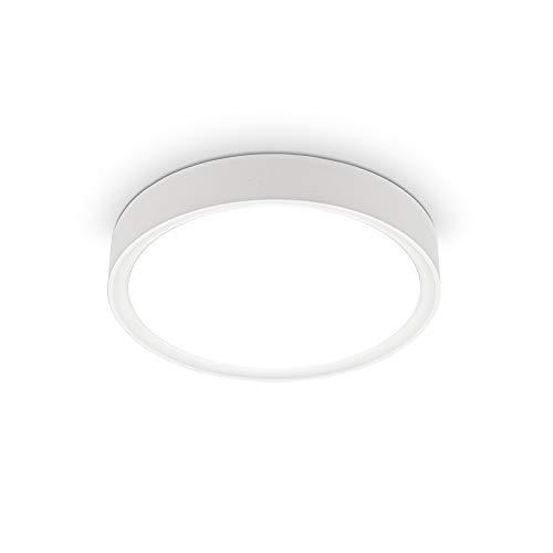 B.K.Licht I 12 W LED Deckenleuchte I 4.000K I 25 cm Durchmesser I 1.200 Lumen I neutralweißes Licht I Weiß-Matt