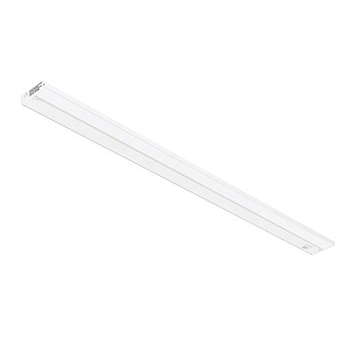 GetInLight 3 Color Levels Dimmable LED Under Cabinet Lighting with ETL Listed, Warm White (2700K), Soft White (3000K), Bright White (4000K), White Finished, 48-inch, IN-0210-6