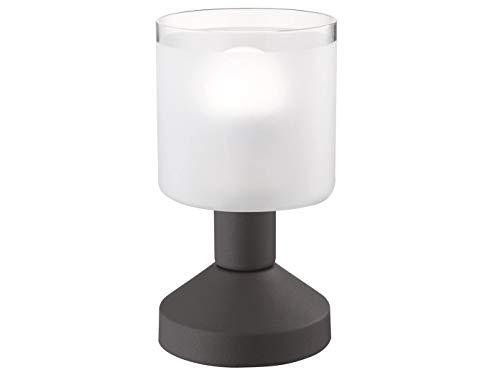 Lámpara de mesa LED con aspecto oxidado, encendido y apagado mediante sensor táctil, diámetro 9 cm, altura 17 cm