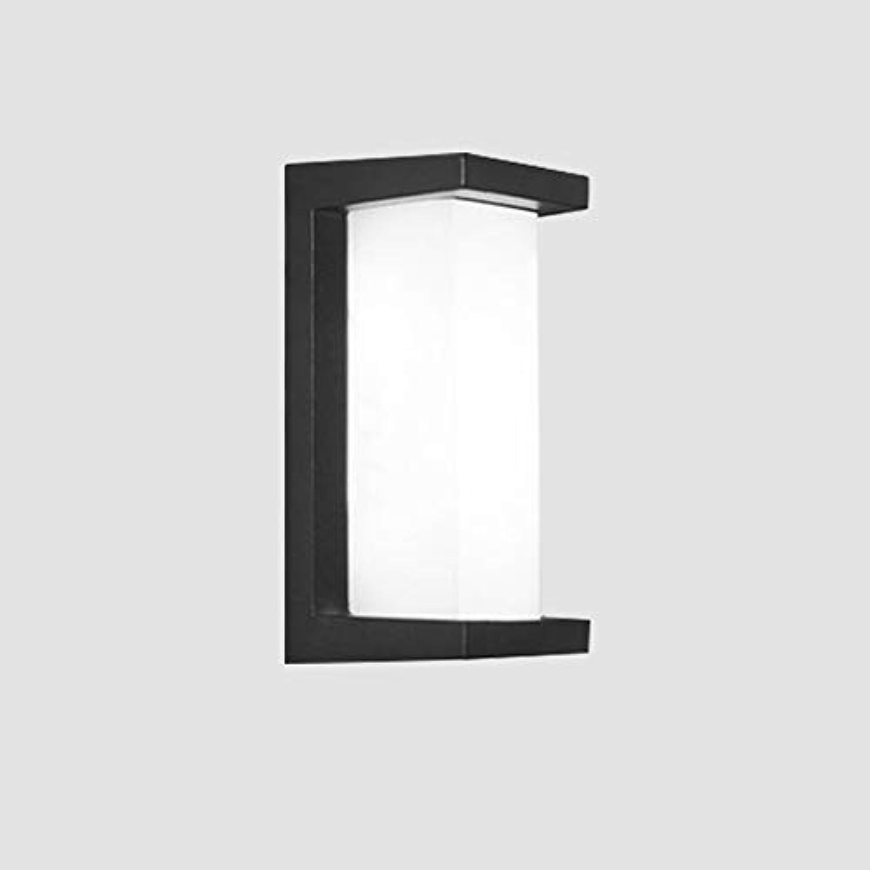 ZHAIZX Super helle geführte Wandlampe im Freien imprgniern modernes unbedeutendes Treppenhausganginduktions-Balkonlicht des Hofes (Größe   5.5X11.8in)