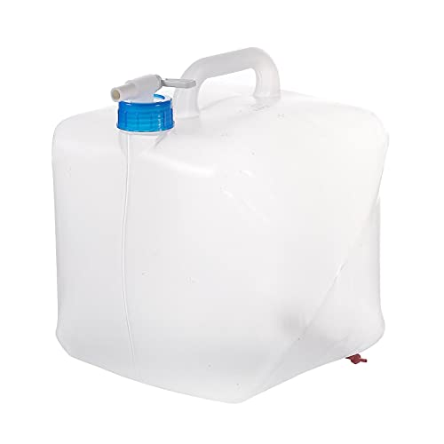 Primlisa Depósito de agua plegable con grifo, depósito de agua para camping, botella de agua de 10 L, portátil, dispensador de agua potable para emergencias hurricanas al aire libre