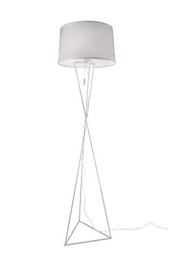 Villeroy & Boch New York Tischleuchte, Metall, 60 W, Schwarz, H 55 cm, Ø 35 cm