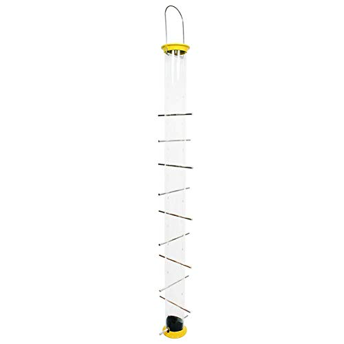 Droll Yankees New Generation Finch Flocker Birdfeeder, 36 Inches, 20 Ports, Yellow