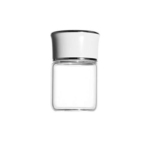 LYUN Tarro Tarro de Cocina Mini tarros de Vidrio Conjunto Redondo frascos de Vidrio frascos de Almacenamiento de envases de frascos Tarro de Almacenamiento (Color : Beige+White)