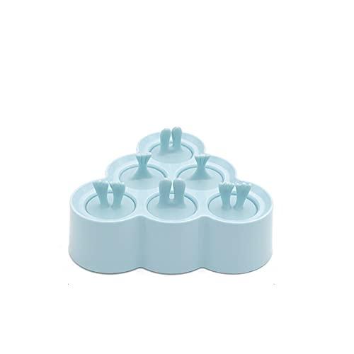 DingSORA Molde para Helados, Reutilizable Moldes Silicona, 6 Moldes de Silicona para Helados, Ideal Para Whisky, Cócteles Y Vino, Sin BPA DingSORA (Color : Azul, Tamaño : Triangle)