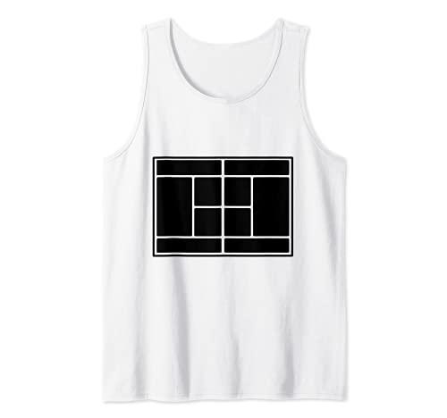 Pista de tenis Camiseta sin Mangas