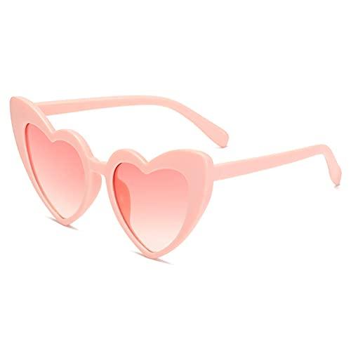CYYS Amor Las Gafas de Sol de Las Mujeres, Gafas de Sol de Moda de la Personalidad de la Personalidad del corazón del corazón Gafas de Sol Europeas y Esta