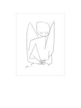 Digitaldruck / Poster Paul Klee - Vergesslicher Engel - 40 x 53.2cm - Premiumqualität - Zeichnung, Engel, Himmelswesen, Expressionismus, Klassische Moderne, Büro, Wohnzimme.. - MADE IN GERMANY - ART-GALERIE-SHOPde